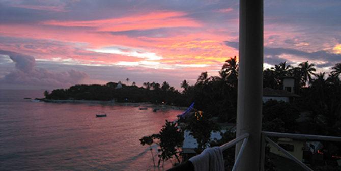 Sri Lanka - Blick vom Balkon aus